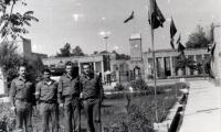Кабул, группа советников царандоя провинции Парван. Крайний справа – В. Б. Чкалов. 1987 г.
