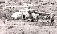 Разгрузка вертолета