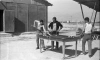 Встреча по волейболу между афганцами и советскими военнослужащими